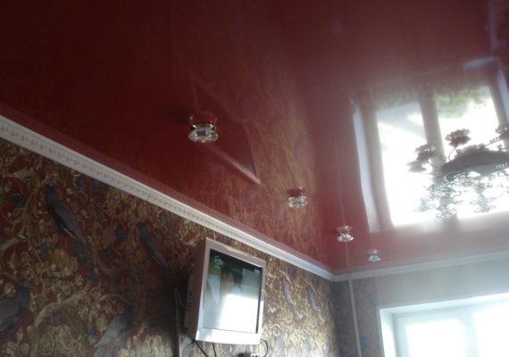 Глянцевые натяжные потолки в Чехове